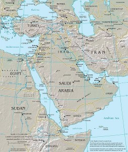 Map of the Middle East | Travelflight